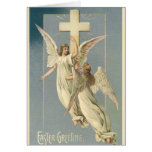 Vintage Victorian Easter Angels with a Cross Greeting Cards