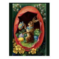 Vintage Victorian Easter Bunny Postcard