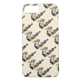 Vintage Victorian Easter Eggs, Bunny and Flowers iPhone 7 Case