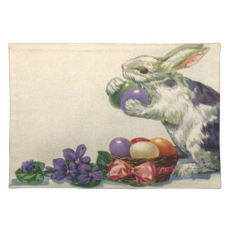 Vintage Victorian Easter Eggs, Bunny and Flowers Placemat
