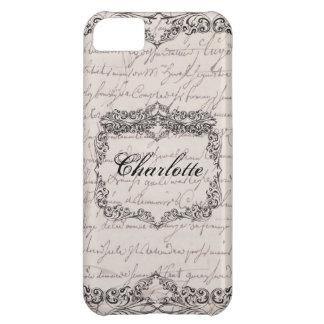 Vintage Victorian Ecru Elegant Personalized Case iPhone 5C Case