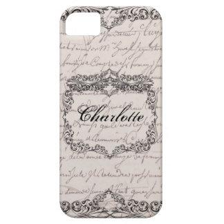 Vintage Victorian Ecru Elegant Personalized Case iPhone 5 Case