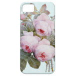 Vintage Victorian English Roses On Baby Blue iPhone 5 Covers