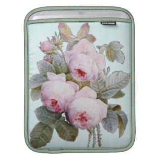 Vintage Victorian English Roses On Baby Blue iPad Sleeve