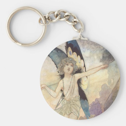 Vintage Victorian Fairy by Charles Robinson, 1911 Keychains