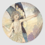 Vintage Victorian Fairy by Charles Robinson, 1911 Classic Round Sticker
