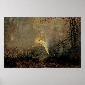 Vintage Victorian Fairy, Midsummer Night, Grimshaw Poster