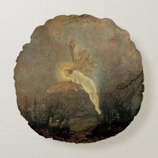 Vintage Victorian Fairy, Midsummer Night, Grimshaw Round Pillow