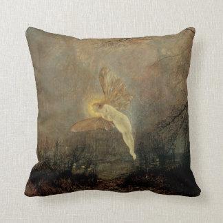 Vintage Victorian Fairy, Midsummer Night, Grimshaw Throw Pillow
