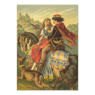 Vintage Victorian Fairy Tale, Brother and Sister Card