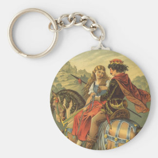 Vintage Victorian Fairy Tale, Brother and Sister Keychain