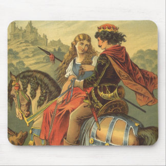 Vintage Victorian Fairy Tale, Brother and Sister Mouse Pad