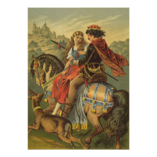 Vintage Victorian Fairy Tale, Brother and Sister Poster