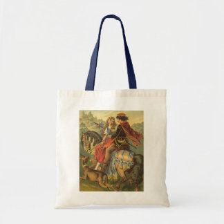 Vintage Victorian Fairy Tale, Brother and Sister Tote Bag