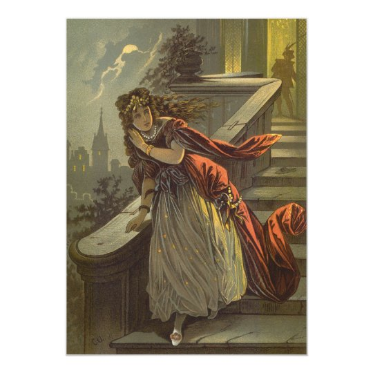 Vintage Victorian Fairy Tale Cinderella Invitation