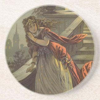 Vintage Victorian Fairy Tale, Cinderella Sandstone Coaster