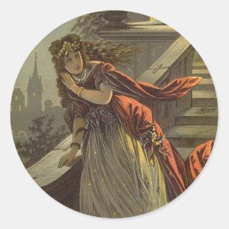 Vintage Victorian Fairy Tale, Cinderella Classic Round Sticker