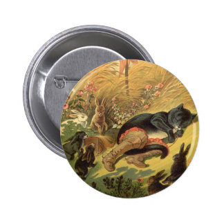 Vintage Victorian Fairy Tale, Puss in Boots 2 Inch Round Button