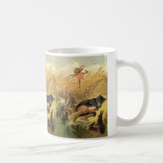Vintage Victorian Fairy Tale, Puss in Boots Coffee Mug