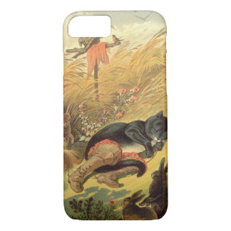 Vintage Victorian Fairy Tale, Puss in Boots iPhone 8/7 Case