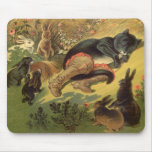 Vintage Victorian Fairy Tale, Puss in Boots Mouse Pads