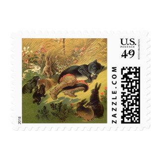 Vintage Victorian Fairy Tale, Puss in Boots Stamp