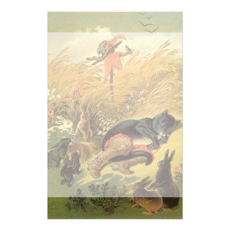 Vintage Victorian Fairy Tale, Puss in Boots Stationery Paper