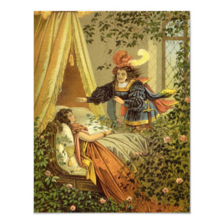 Vintage Victorian Fairy Tale, Sleeping Beauty Card