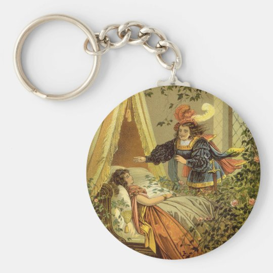 Vintage Victorian Fairy Tale, Sleeping Beauty Keychain