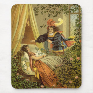 Vintage Victorian Fairy Tale, Sleeping Beauty Mouse Pad