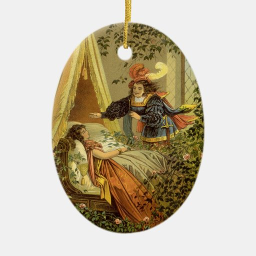 Vintage Victorian Fairy Tale, Sleeping Beauty Christmas Tree Ornaments