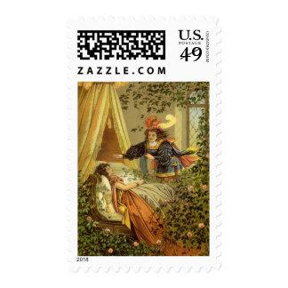 Vintage Victorian Fairy Tale, Sleeping Beauty Postage