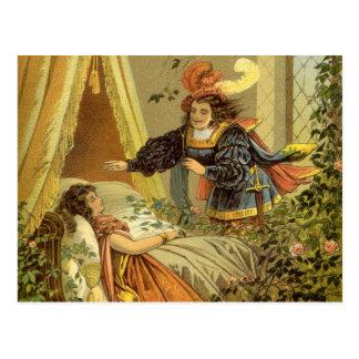 Vintage Victorian Fairy Tale, Sleeping Beauty Postcard