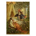 Vintage Victorian Fairy Tale, Sleeping Beauty Poster