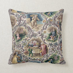 Vintage Victorian Fairy Tales Pillow Throw