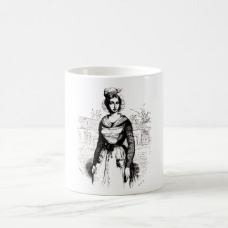 Vintage Victorian Farm Lady Coffee Mug