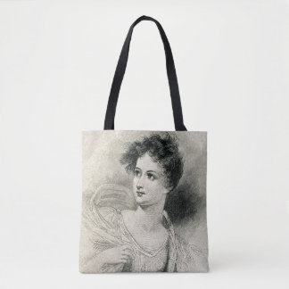 Vintage Victorian Female Woman, Antique Inspired Tote Bag