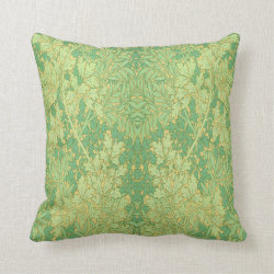 Vintage Victorian Ferns Pillow Throw