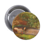 Vintage Victorian Fine Art, Ophelia by Millais 2 Inch Round Button