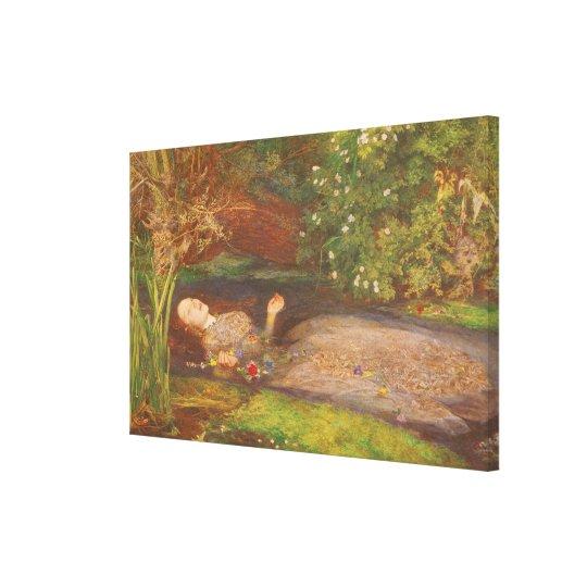 Vintage Victorian Fine Art, Ophelia by Millais Canvas Print