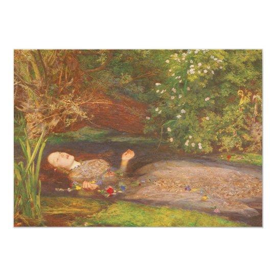Vintage Victorian Fine Art, Ophelia by Millais Card