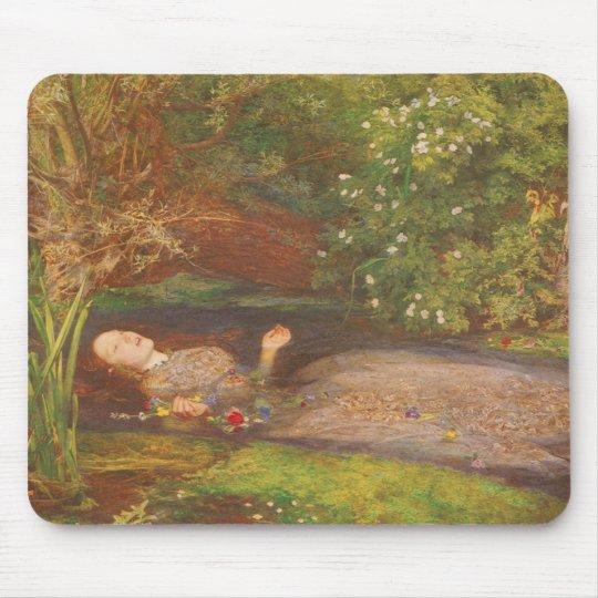 Vintage Victorian Fine Art, Ophelia by Millais Mouse Pad