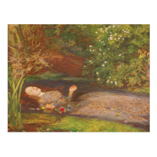 Vintage Victorian Fine Art, Ophelia by Millais Postcard