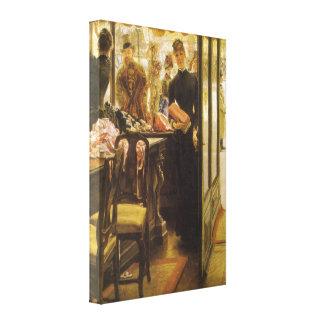 Vintage Victorian Fine Art, Shop Girl by Tissot Canvas Print