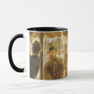 Vintage Victorian Fine Art, Shop Girl by Tissot Mug