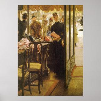 Vintage Victorian Fine Art, Shop Girl by Tissot Poster