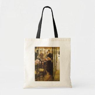 Vintage Victorian Fine Art, Shop Girl by Tissot Tote Bag