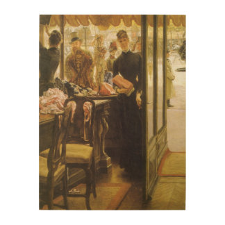 Vintage Victorian Fine Art, Shop Girl by Tissot Wood Wall Art