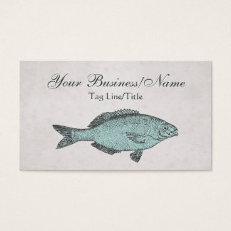 Vintage Victorian Fish Business Card