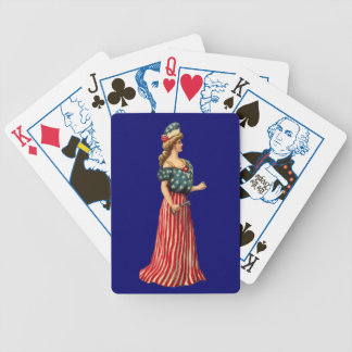 Vintage Victorian Flag Lady Vote-Playing Cards Bicycle Playing Cards